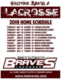 2019 Home Schedule